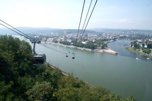 Koblenz Kabelbaan Hoogte