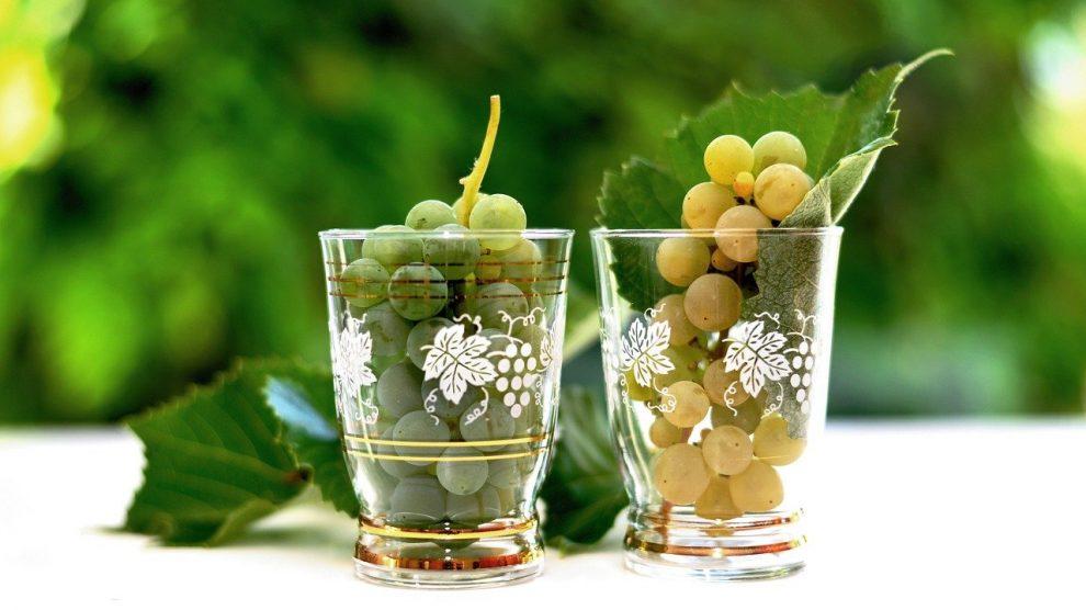 Wijnglas Moezelwijn Druiven